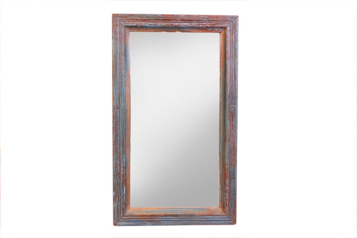 Spiegel Met Lijst : Indiase spiegel met houten lijst handgemaakt gusj