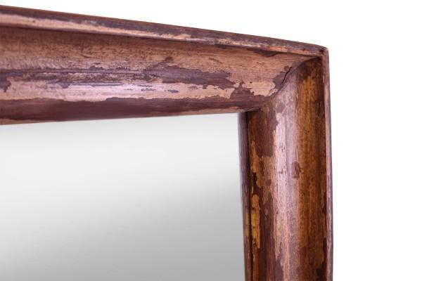 Indiase houten spiegel met handgemaakte lijst gusj for Houten spiegel