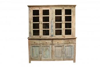 tweedelige houten kast