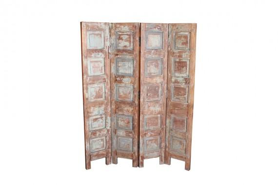 houten kamerscherm met 4 panelen
