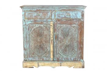 hoog houten dressoir