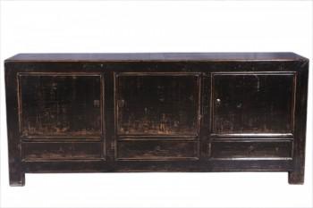 zwart dressoir met 3 deuren