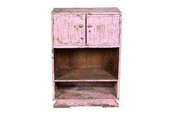 antiek roze kastje