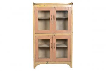 Vitrinekast met 4 deuren Antiek Ecru