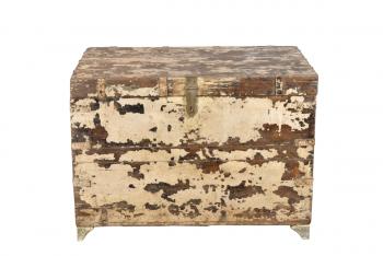 houten kist ecru
