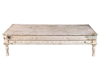 oude salontafel antiek wit