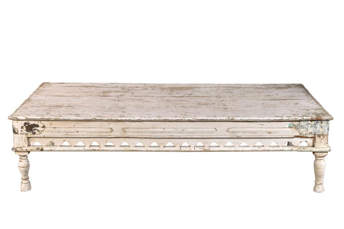 Oude salontafel antiek wit 178 x 94 x 45 cm gusj - Salontafel naar de slaapkamer ...