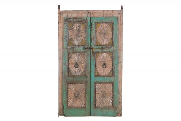 set van 2 houten deuren