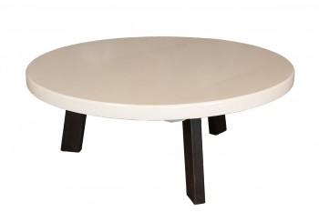 Ronde salontafel met wit tafelblad