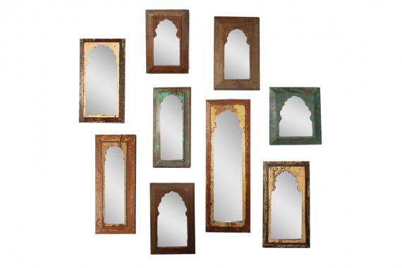 Houten paneel spiegel handgemaakt gusj for Houten spiegel
