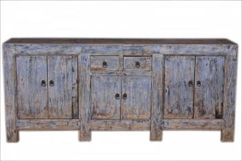 antiek blauw dressoir