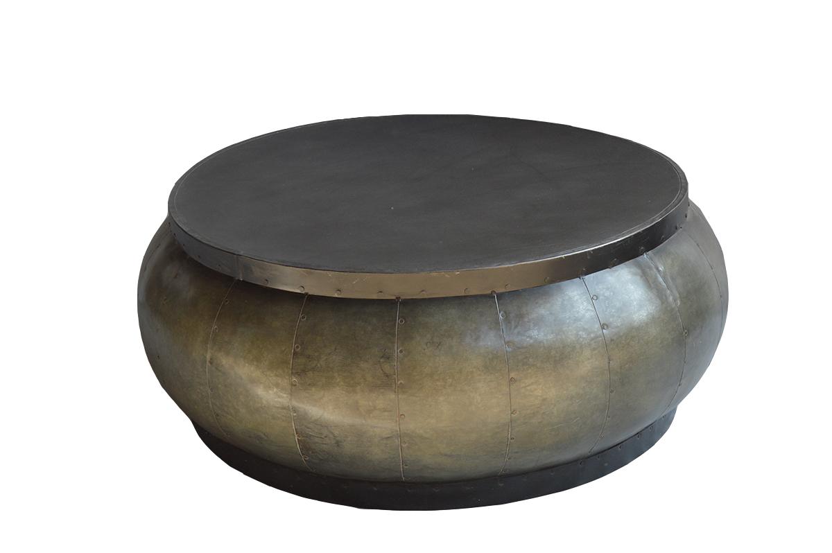 Salontafel rond metaal robuust gusj