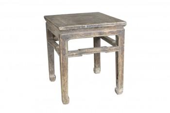 Vierkant bijzettafeltje van hout Medium