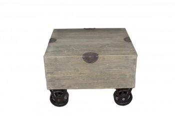 houten salontafeltje op wielen