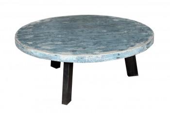 blauwe salontafel