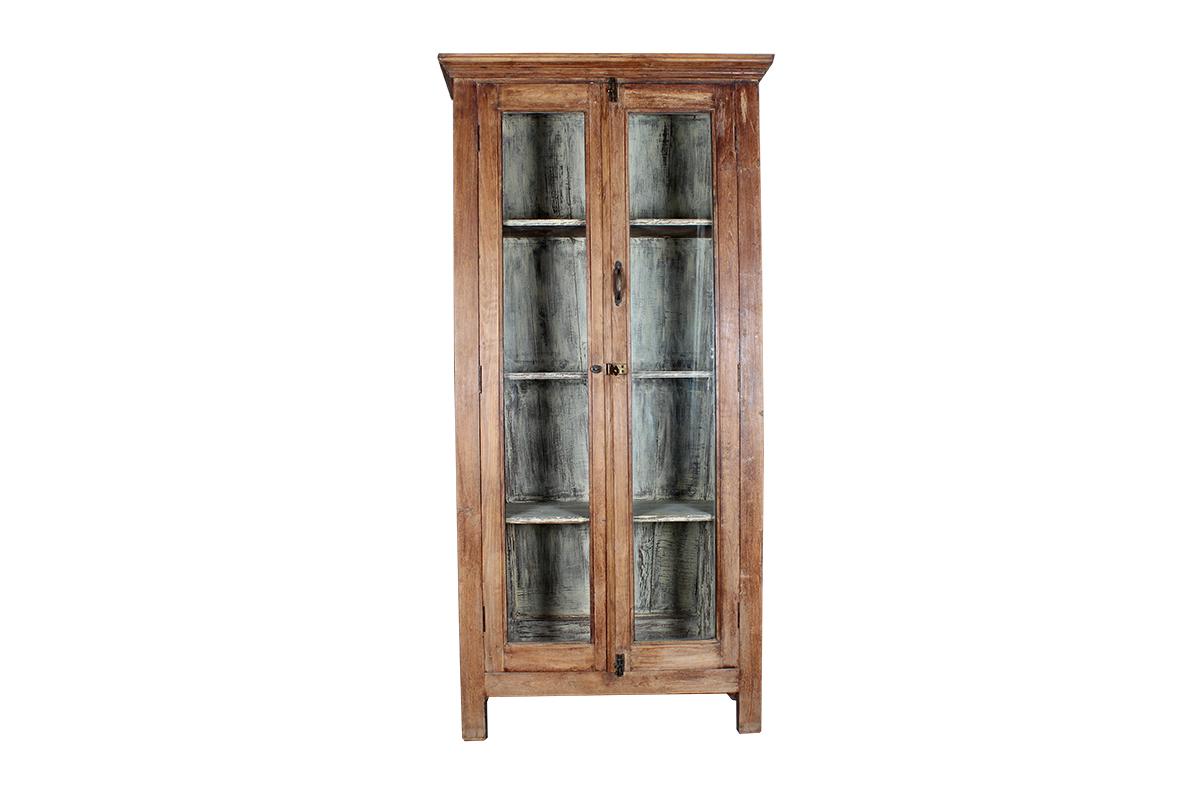 Kast Met Glasdeuren.Kast Met Glazen Deuren Hout 198 Centimeter Gusj