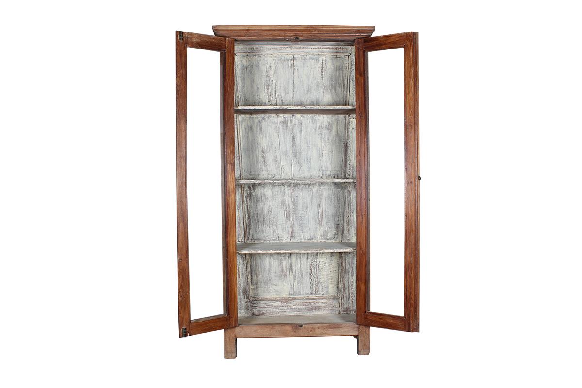 Kast Voor Glazen : Kast met glazen deuren hout 198 centimeter gusj