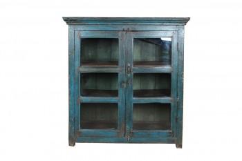 blauwe vitrinekast uit india