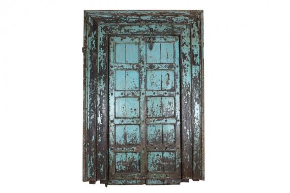 houten deur met kozijn