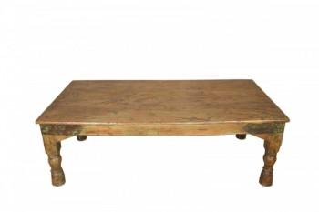 Oude houten salontafel Antiek Bruin