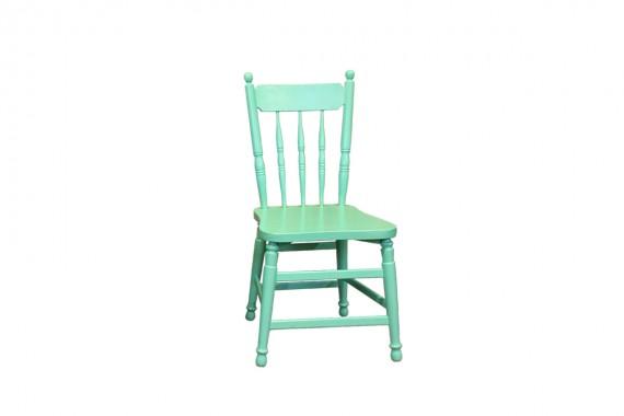 houten stoel mintgroen