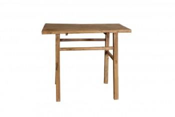 vierkant tafeltje van onbewerkt hout