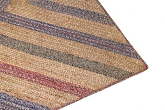 Jute/katoenen tapijt