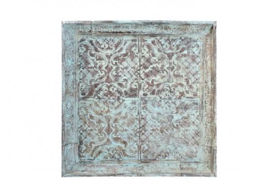 Antiek plafond paneel 4 Groen India