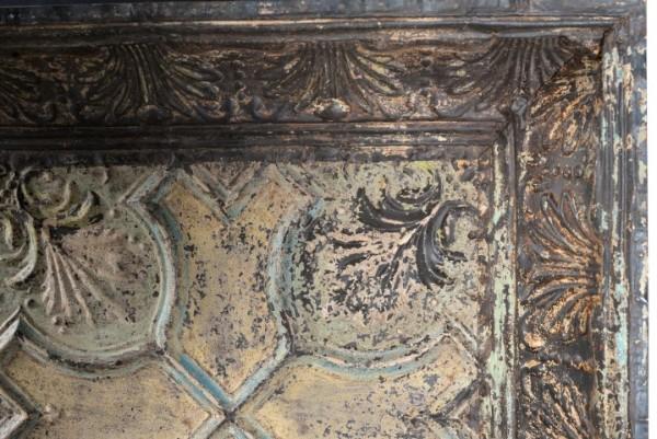 Oud plafond paneel Geel India