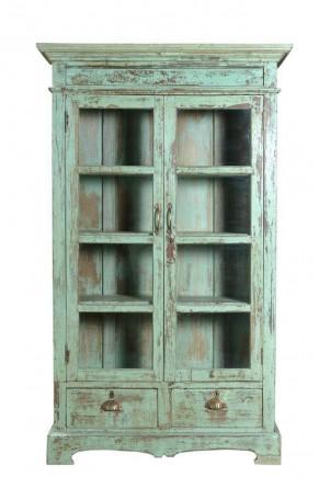 vitrinekast antiek groen