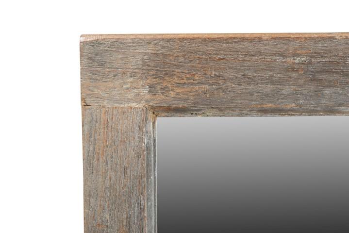 Oud raam spiegel 4x4 verweerde uitstraling gusj for Houten spiegel