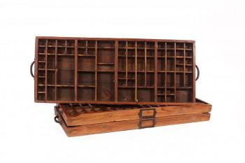 oude houten letterbak