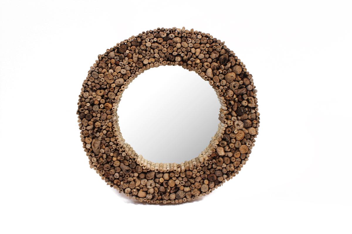 Ronde Houten Spiegel : Ronde drijfhout spiegel doorsnede centimeter gusj
