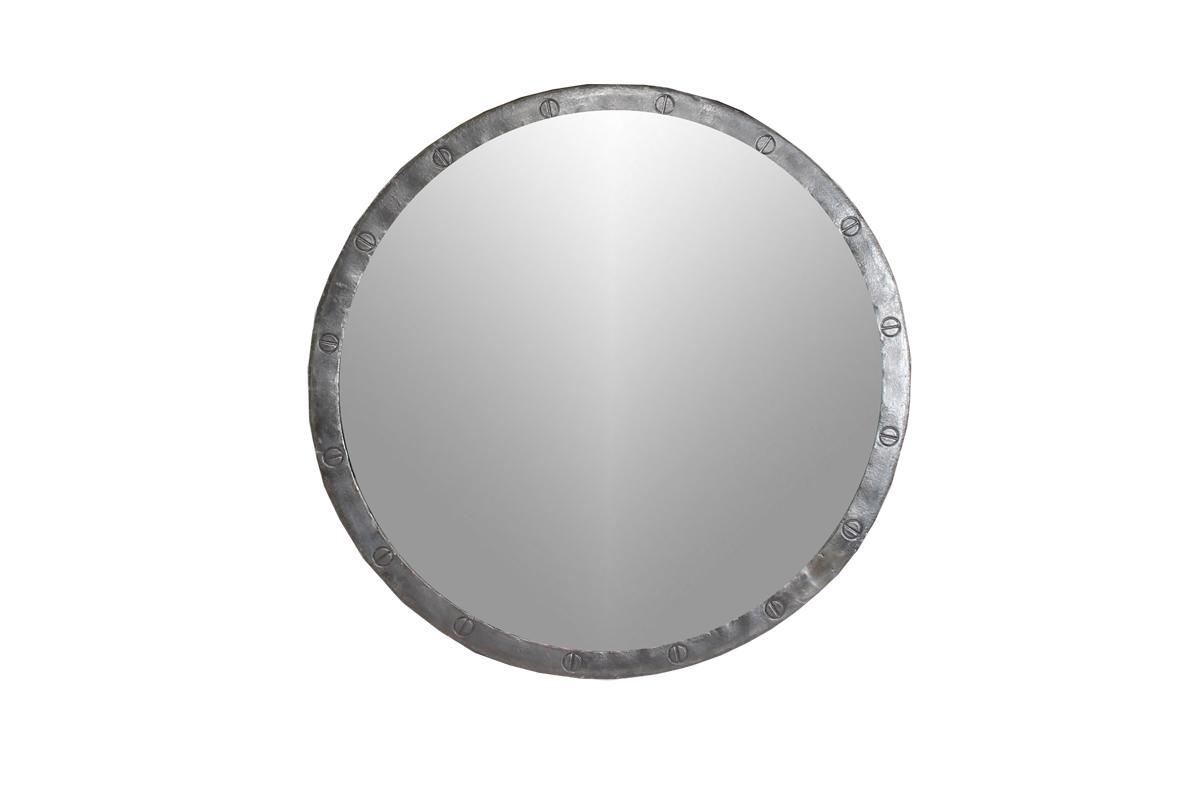 Loft industri le ronde ijzeren spiegel maat m gusj for Ronde spiegel op maat