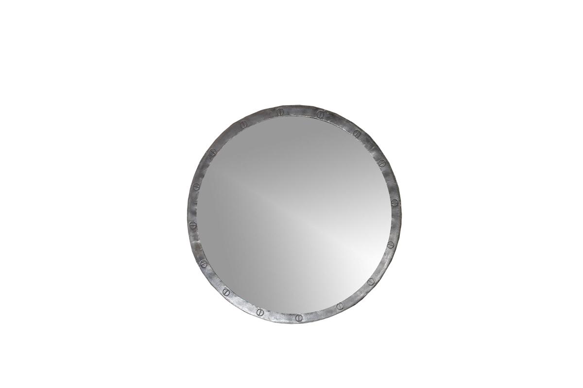 Loft industri le ronde ijzeren spiegel maat s gusj for Ronde spiegel op maat