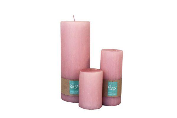 Gusj kaars Roze M gusj kaars roze L