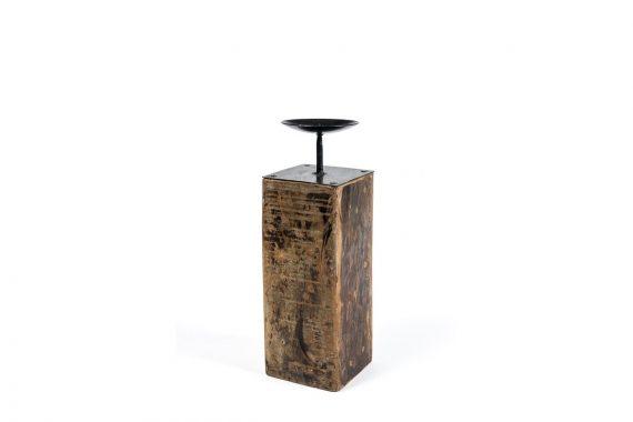 WoodenRecycleCandleStandLarge