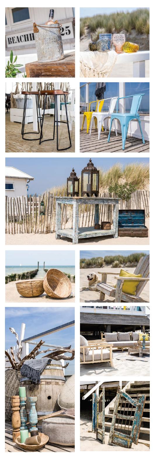 Unieke accessoires voor de aankleding van strandpaviljoen