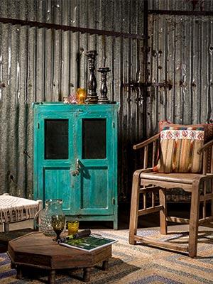 unieke design inrichting unieke vintage meubels buffetkast met industriele look
